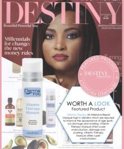 DermaFix in Destiny Magazine Oct 2016