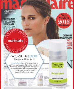 DermaFix in Marie Claire Magazine Oct 2016
