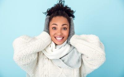 Pigmented, wrinkled & dry skin in winter